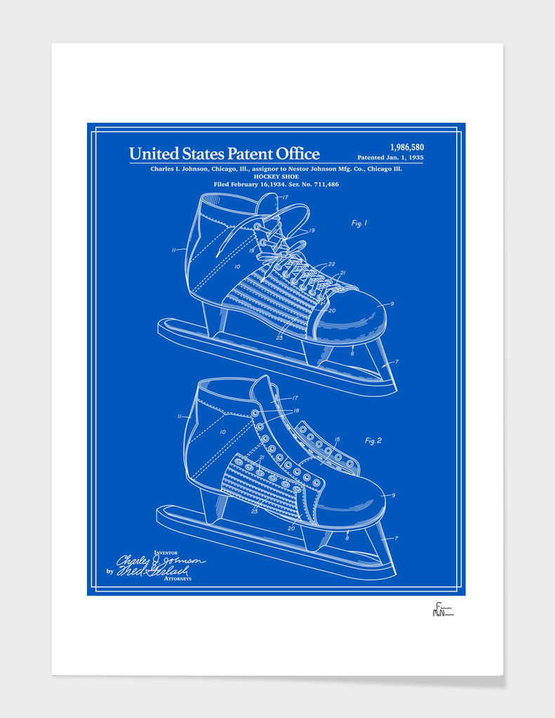 Hockey Skate Patent - Blueprint
