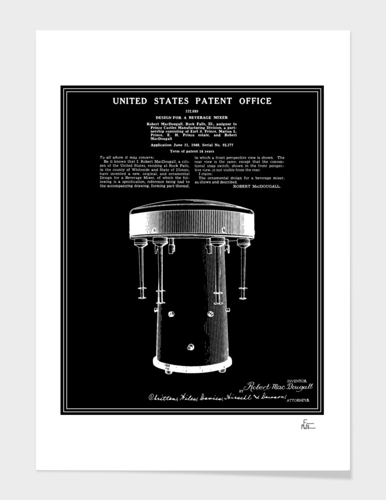 Milkshake Machine Patent - Black