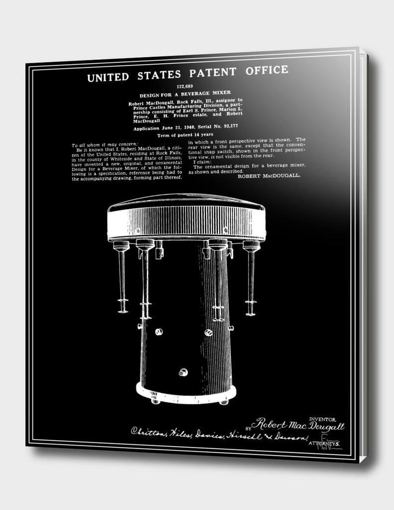 Milkshake Machine Patent - Black