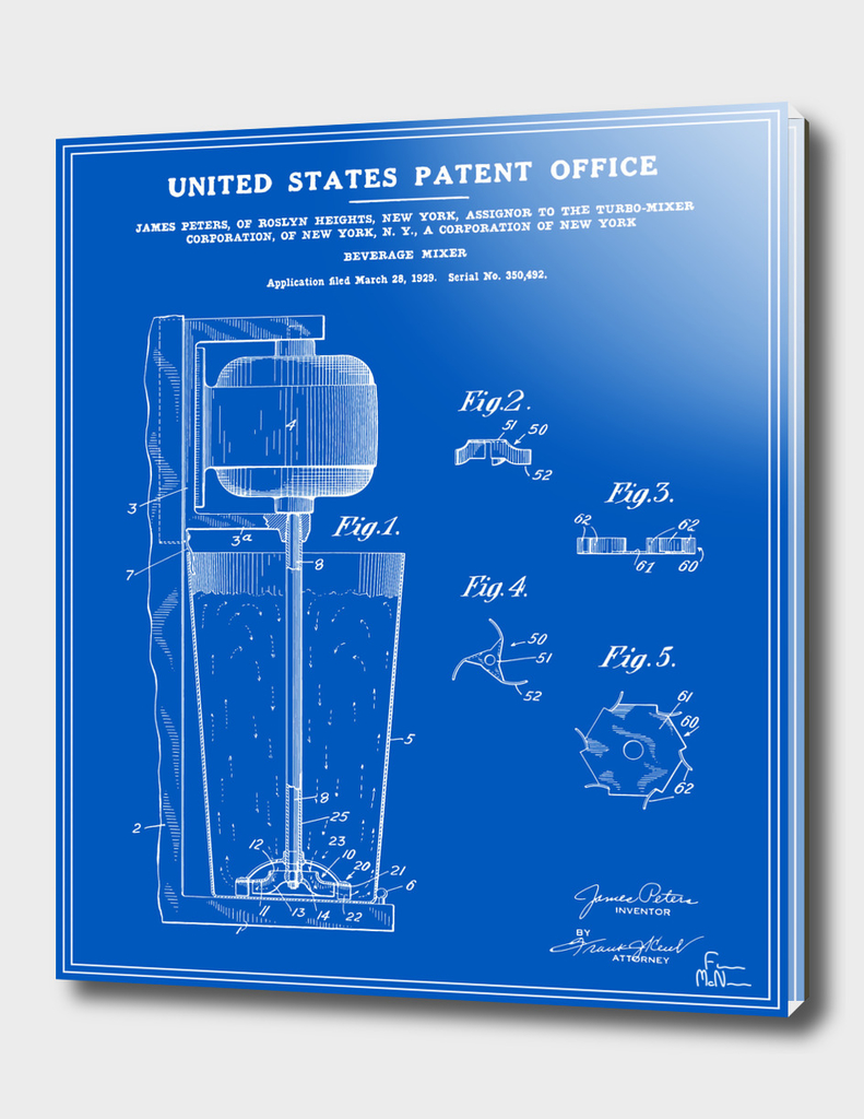 Beverage Mixer Patent - Blueprint