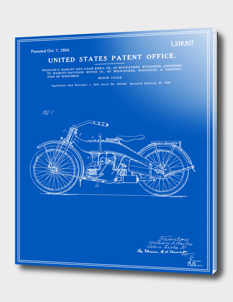 Motorcycle Patent - Blueprint