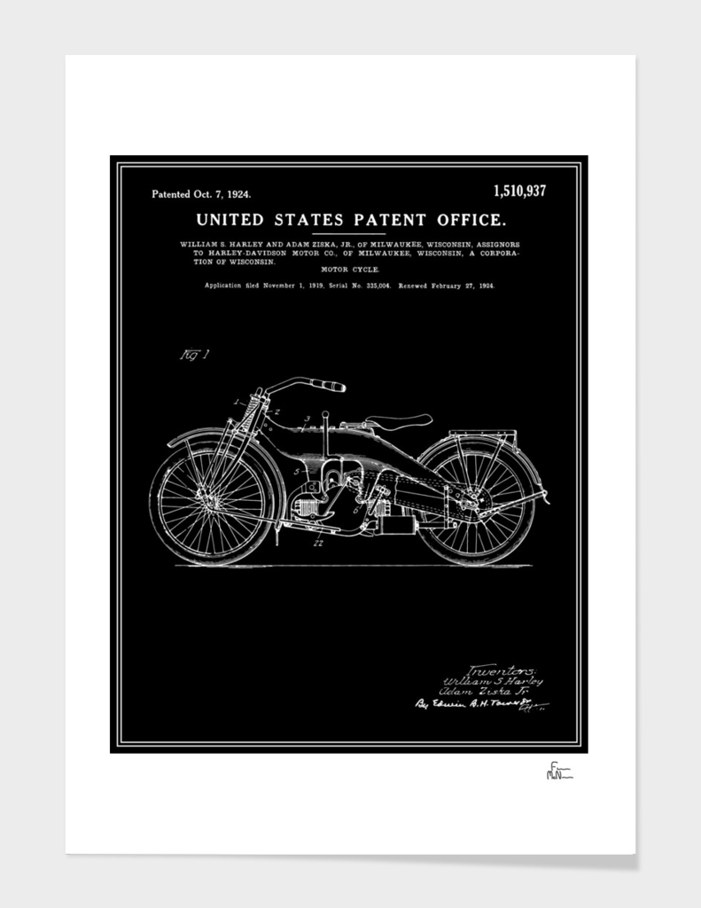 Motorcycle Patent - Black