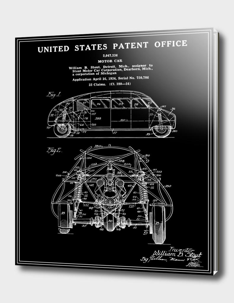 Motor Car Patent - Black