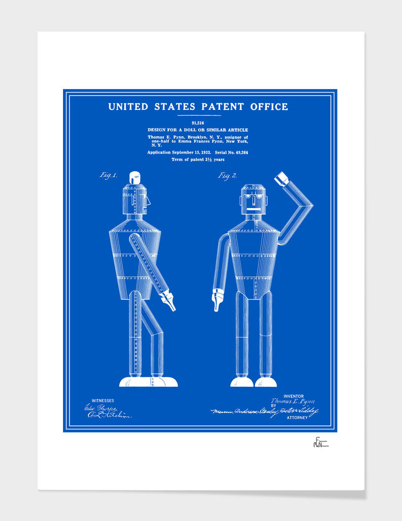 Robot Patent - Blueprint