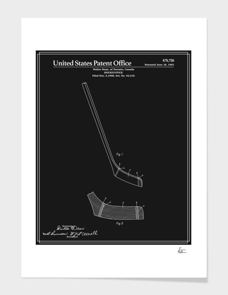Hockey Stick Patent - Black