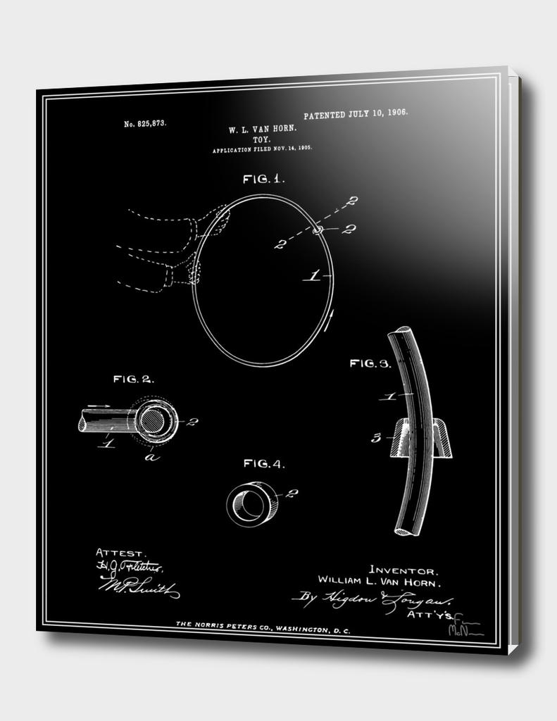 Hula Hoop Patent - Black