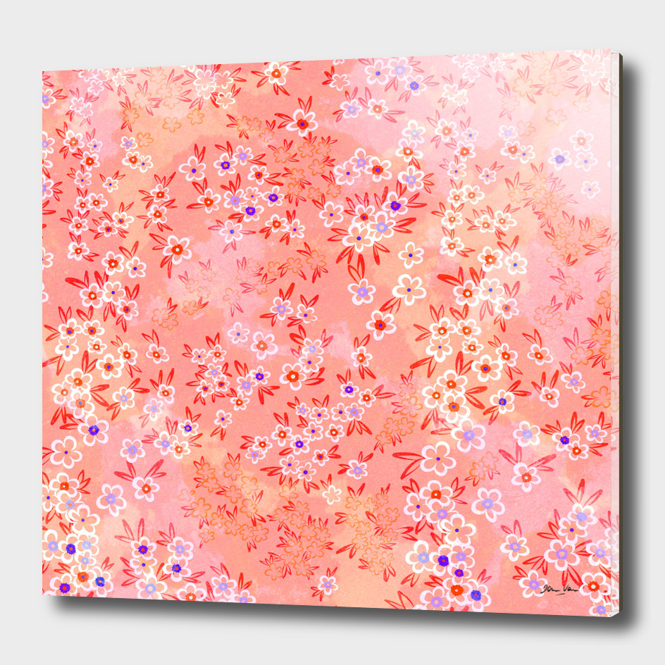 Forget me, forget me not - peach and coral