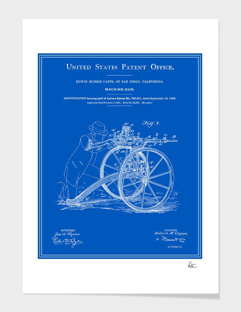Machine Gun Patent - Blueprint