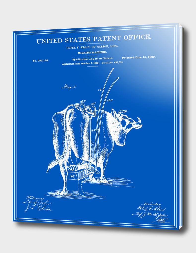 Milking Machine Patent - Blueprint