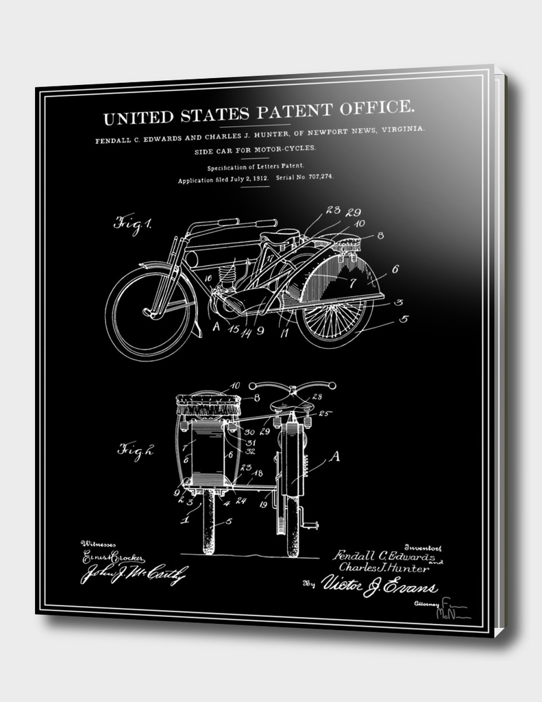 Motorcycle Sidecar Patent v2 - Black