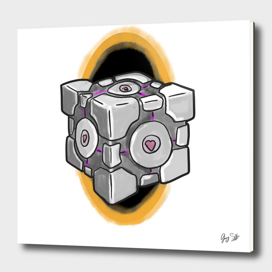 Companion Cube - orange