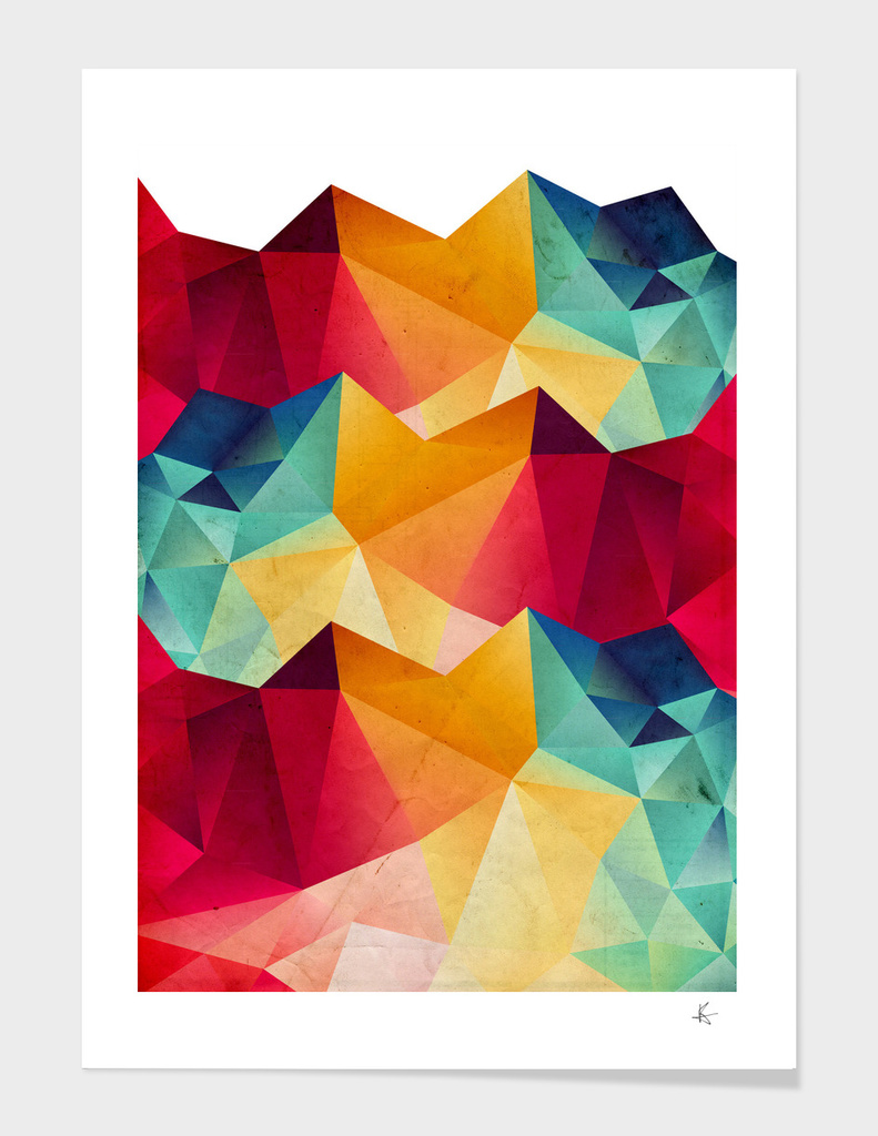 geometric color mountains