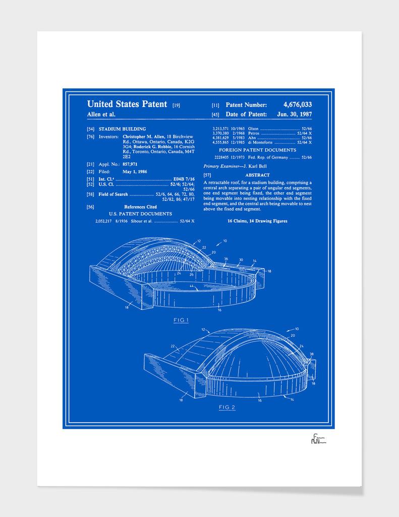 Stadium Patent - Blueprint