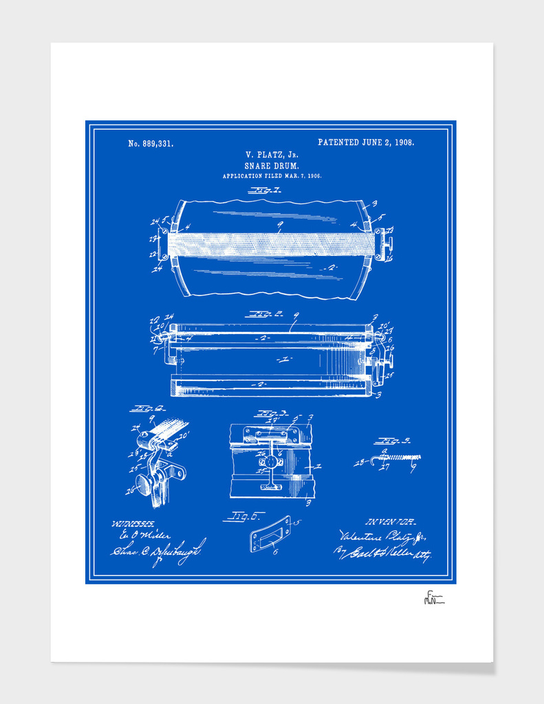 Snare Drum Patent - Blueprint