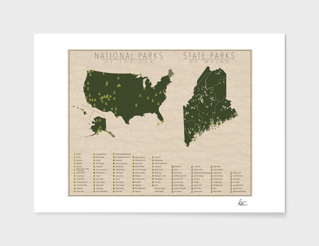 US National Parks - Maine
