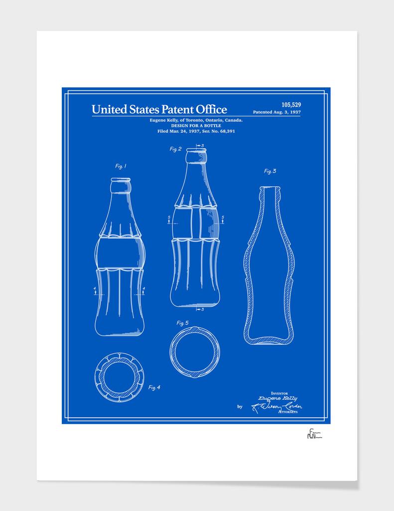 Soda Bottle Patent - Blueprint