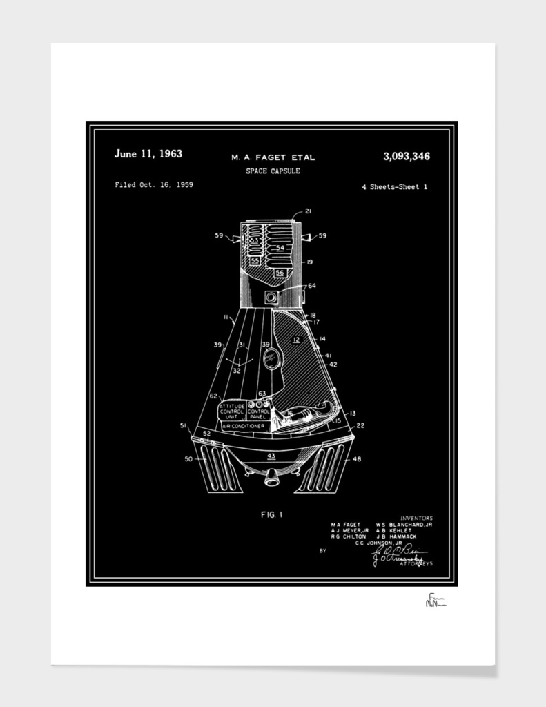 Space Capsule Patent v1 - Black