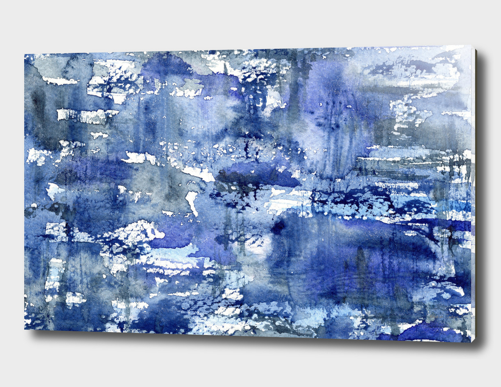Shabby blue #2    watercolor