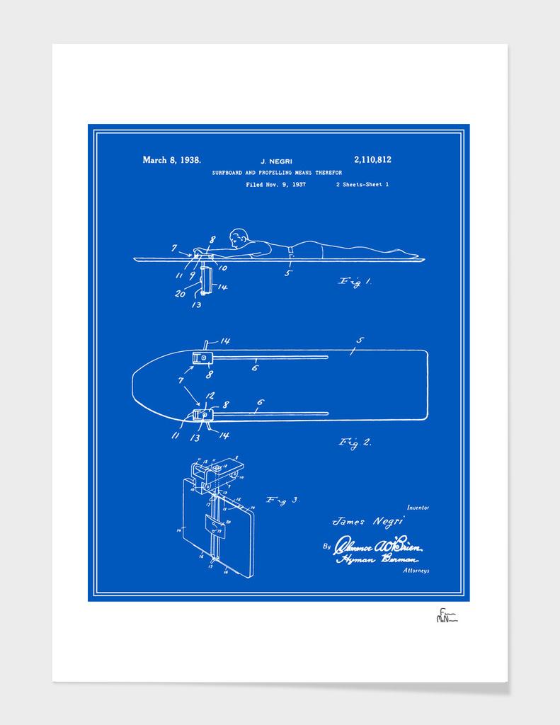 Surfboard Patent - Blueprint