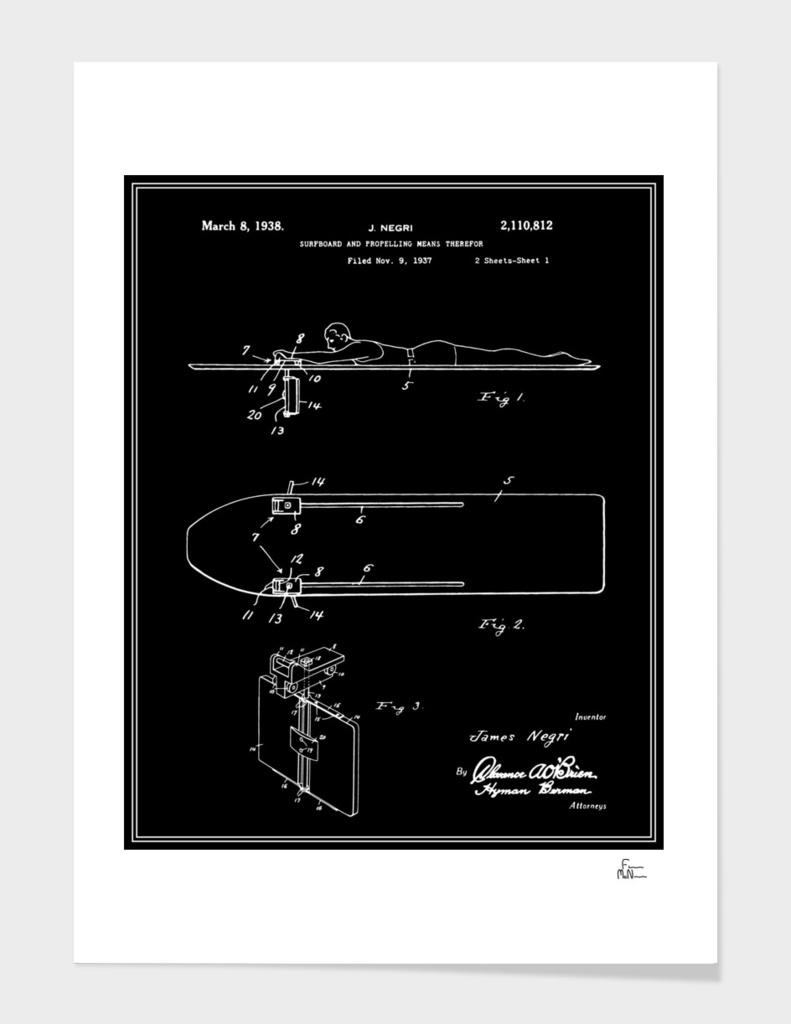 Surfboard Patent - Black