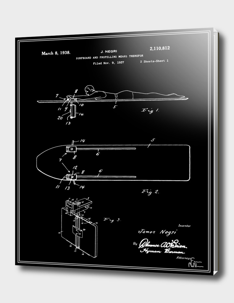Surfboard Patent - Black