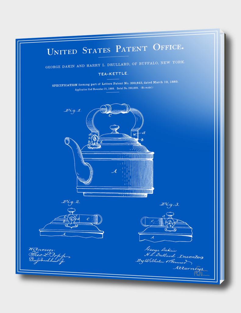 Tea Kettle Patent - Blueprint