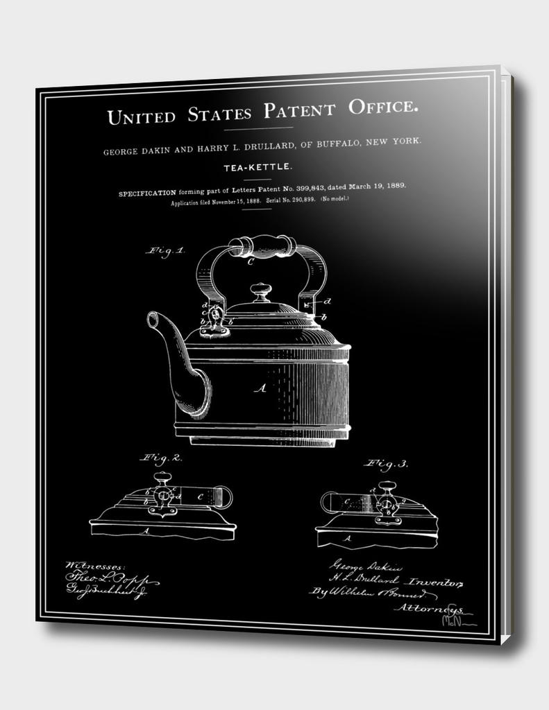 Tea Kettle Patent - Black