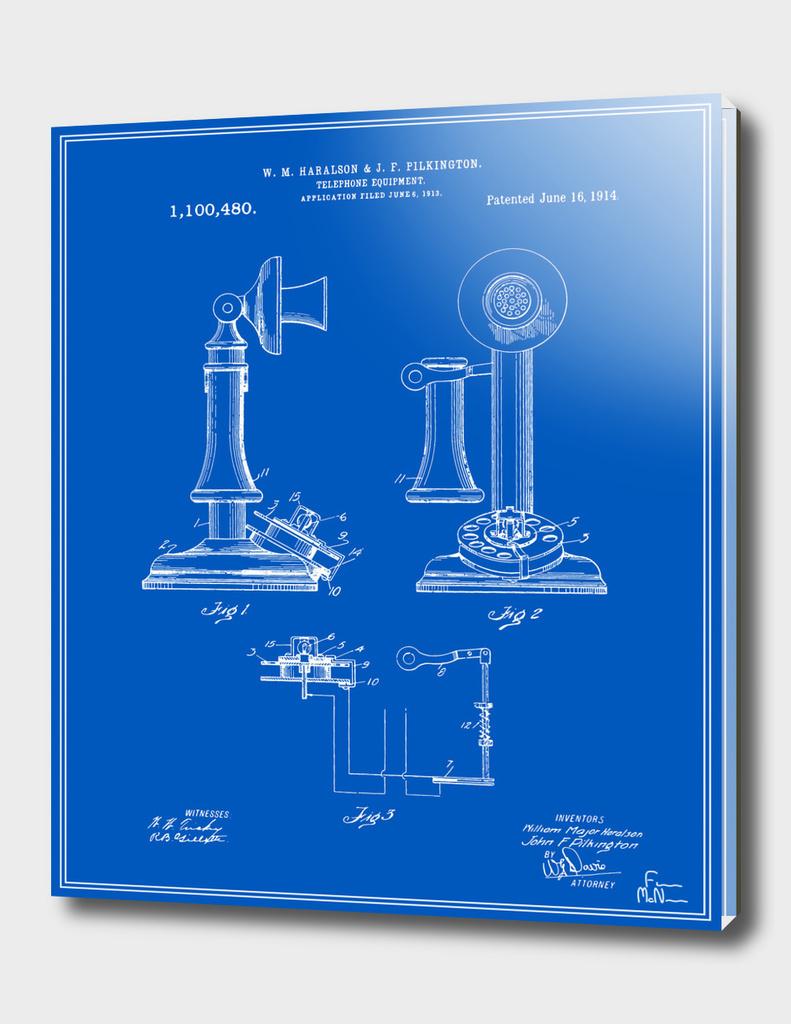 Telephone Patent - Blueprint