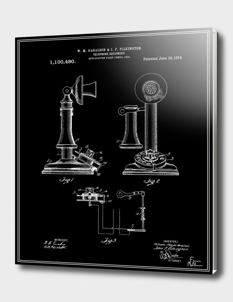 Telephone Patent - Black