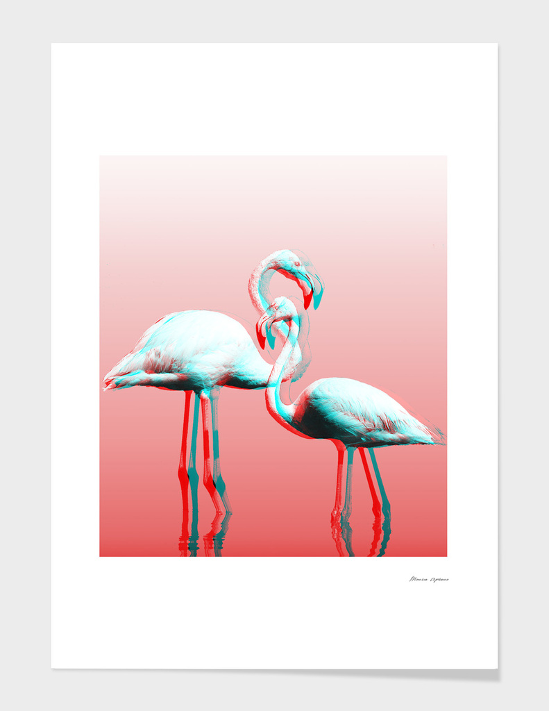 Glitch Flamingos