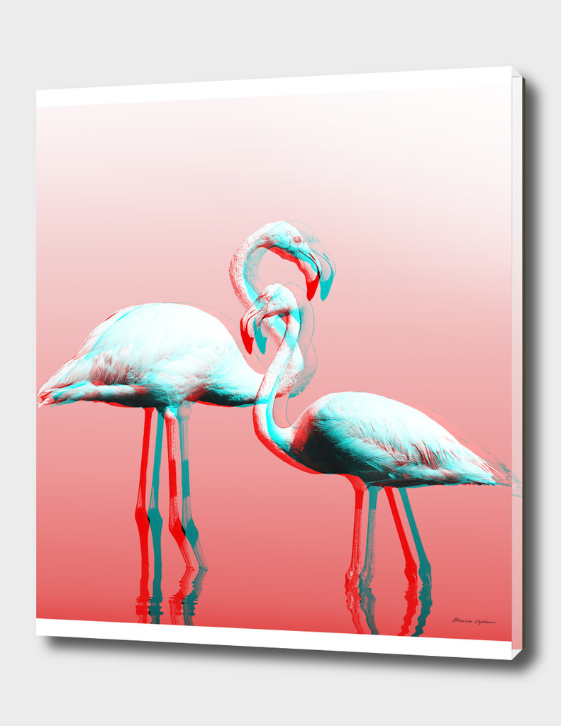 Glitch Flamingos