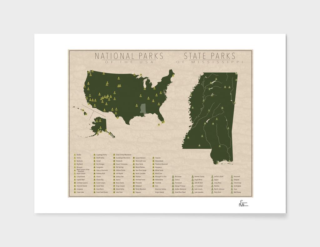 US National Parks - Mississippi