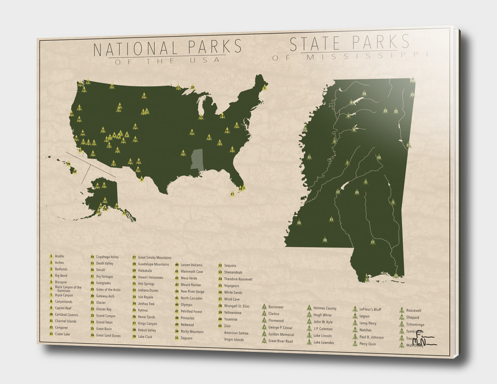 US National Parks - Mississippi