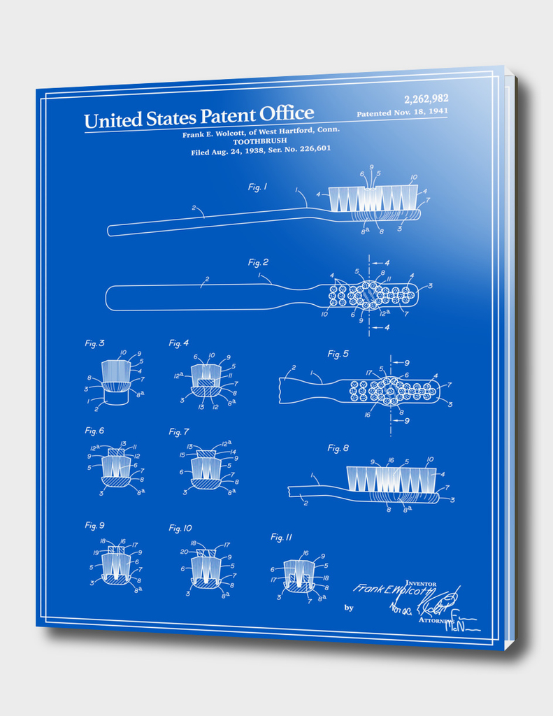 Toothbrush Patent - Blueprint