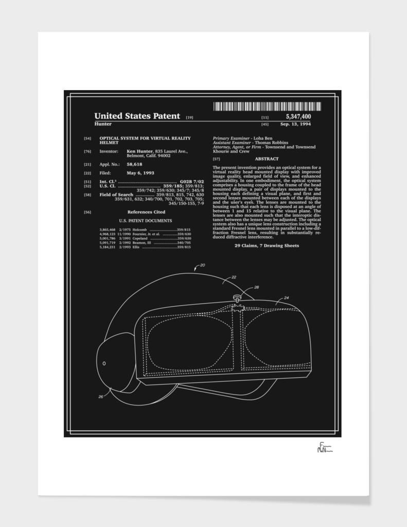 Virtual Reality Helmet Patent - Black
