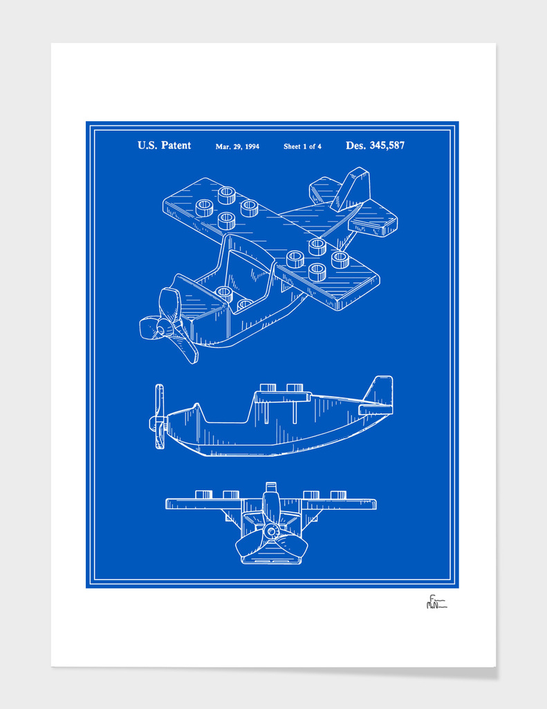 Toy Airplane Patent - Blueprint