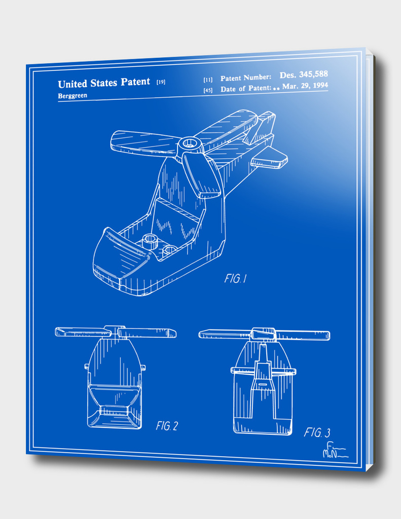 Toy Helicopter Patent - Blueprint