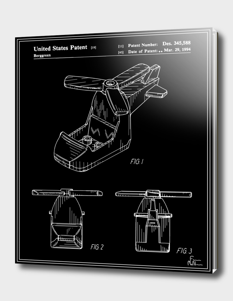 Toy Helicopter Patent - Black