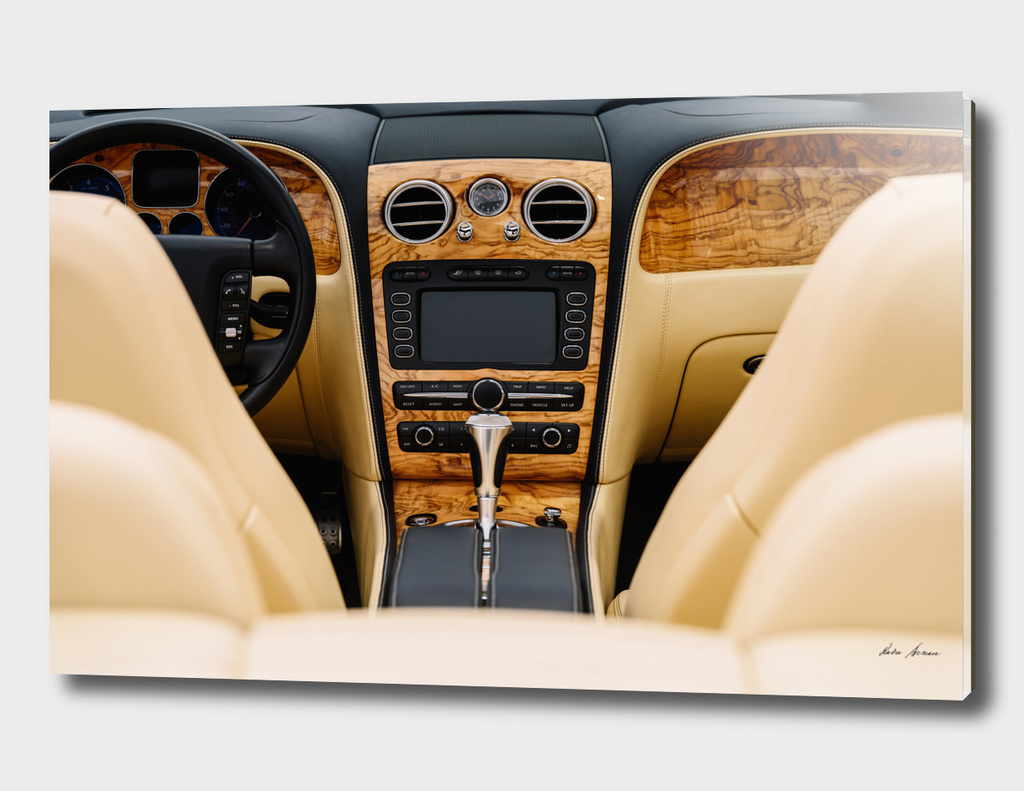 Classic Car Interior With Dashboard View