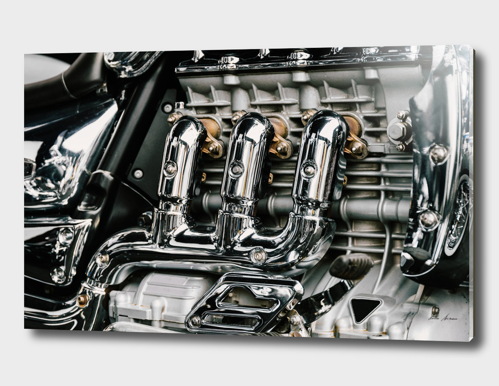 Motorcycle Chrome Engine Block