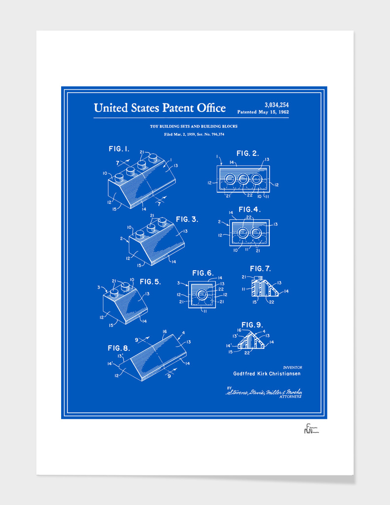 Building Blocks Patent - Blueprint