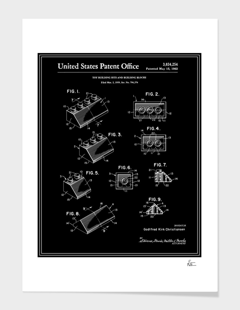 Building Blocks Patent - Black