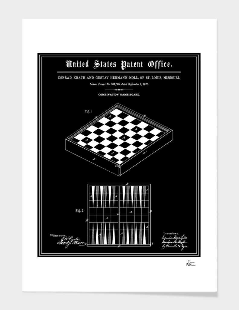Game Board Patent - Black