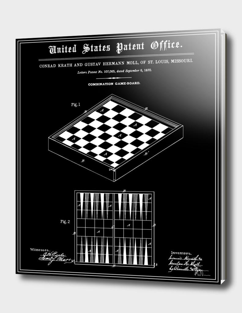 Game Board Patent - Black