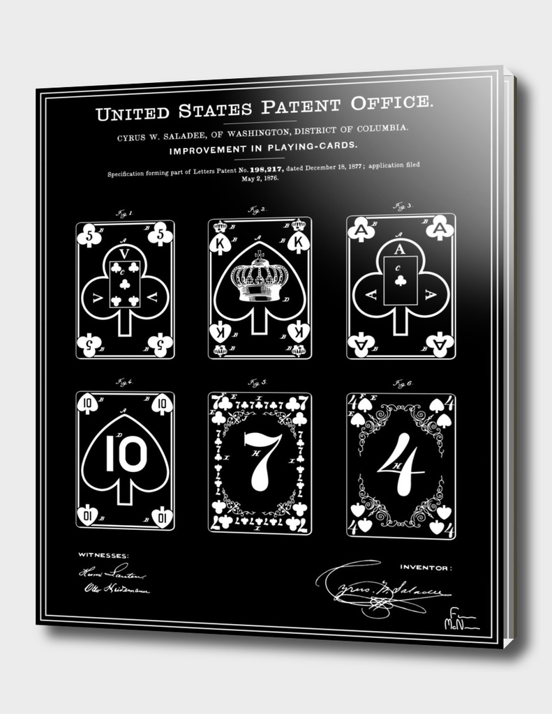 Playing Cards Patent - Black