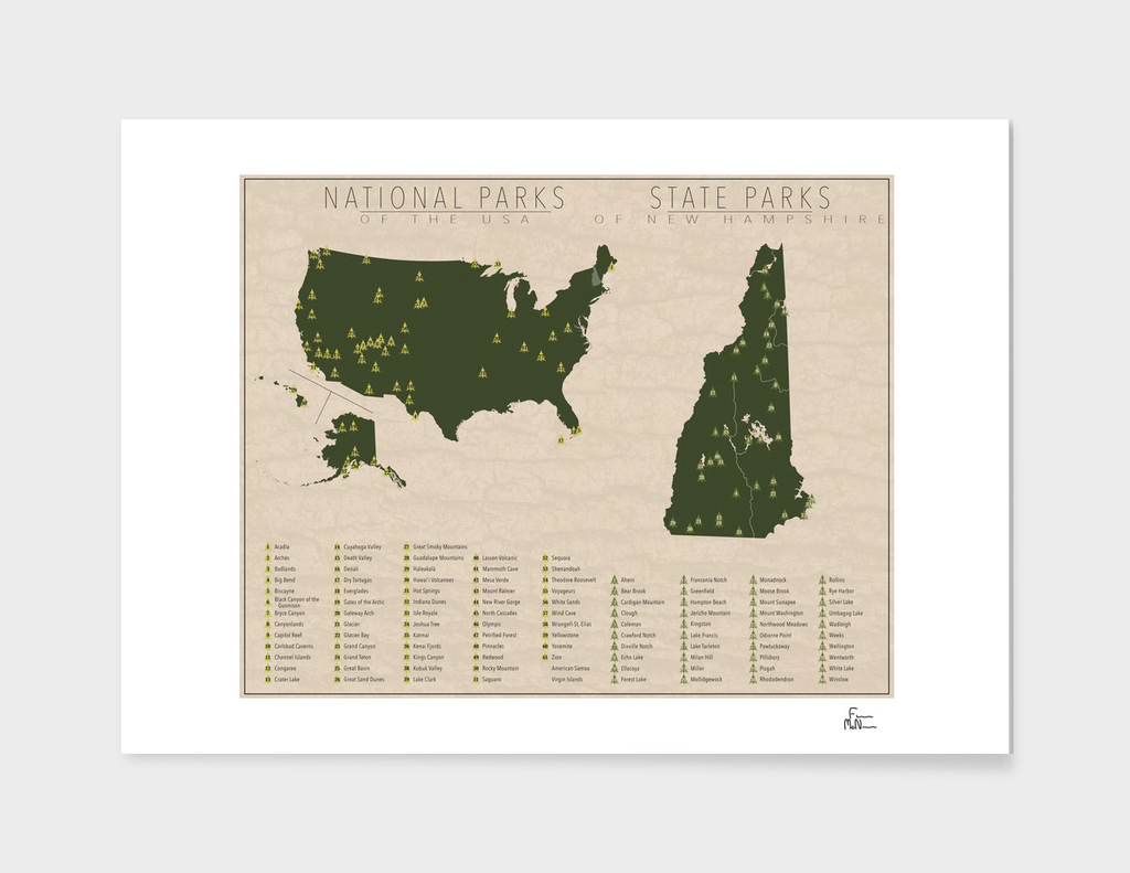 US National Parks - New Hampshire