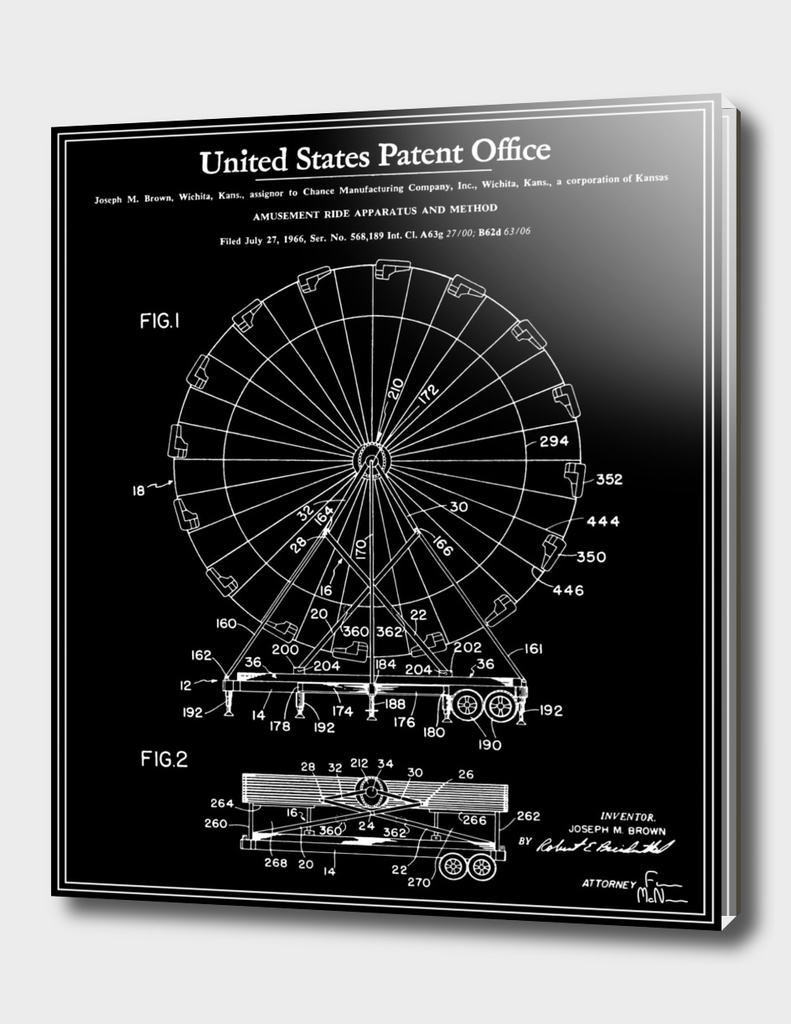 Amusement Ride Patent - Black