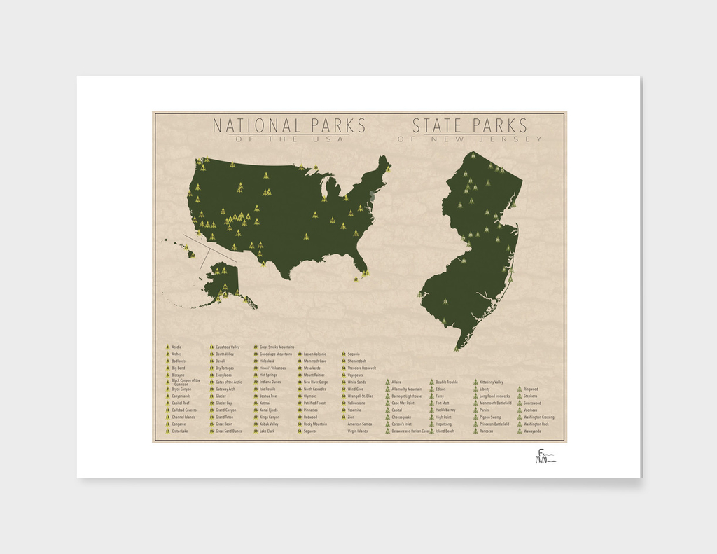 US National Parks - New Jersey
