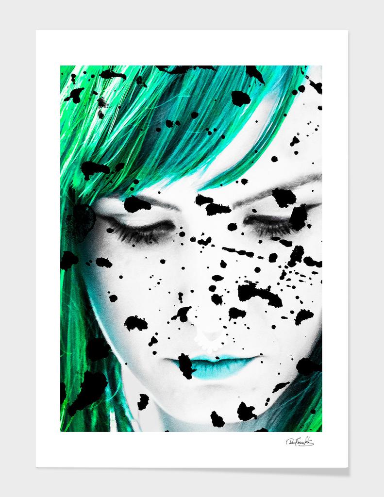 Beauty Woman Close Up Artistic Portrait