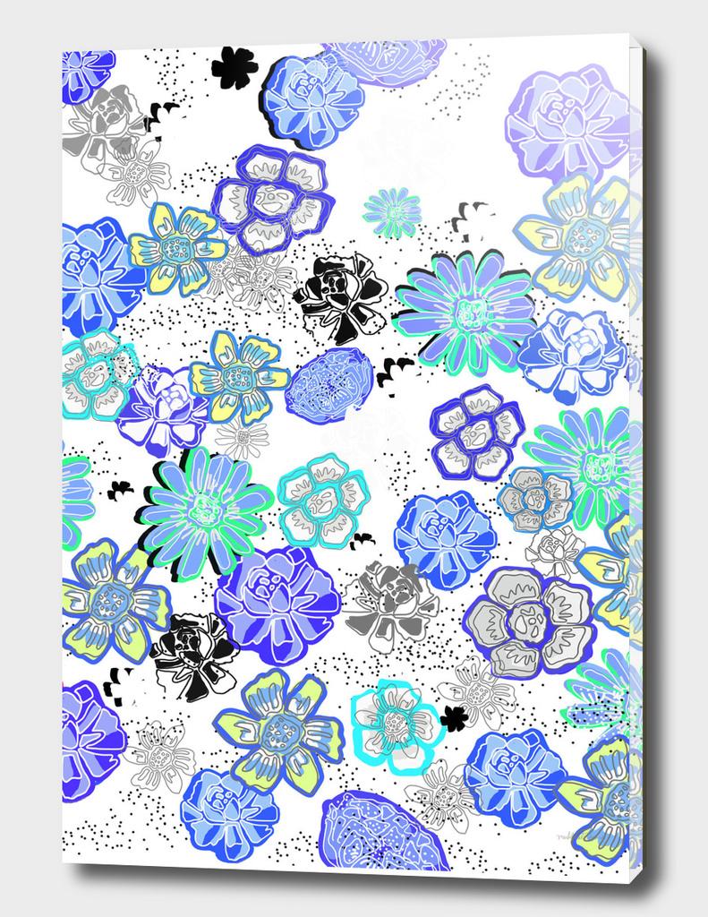 Flower Garden white